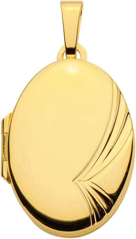 medaillon goud 333/gg ovaal