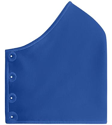 Mond- en neusmasker HappyCurve met individueel gestikt logo, koningsblauw