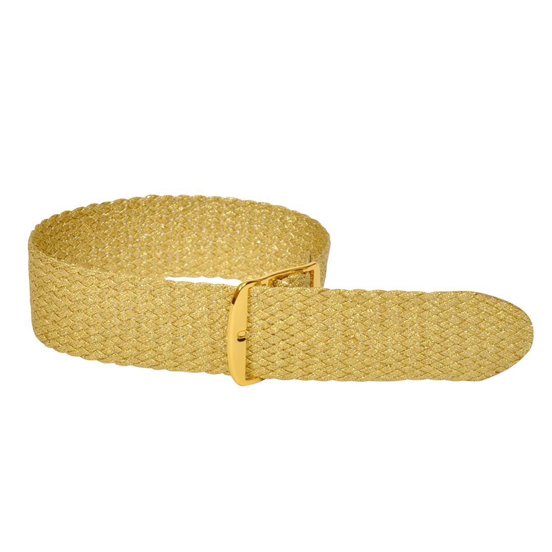 Perlonband gold, 18mm