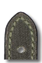 Lederband Mansfield 22 mm natogrün