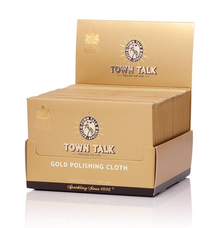 Mr Town Talk Gold Poliertuch 12,5 cm x 17,5 cm