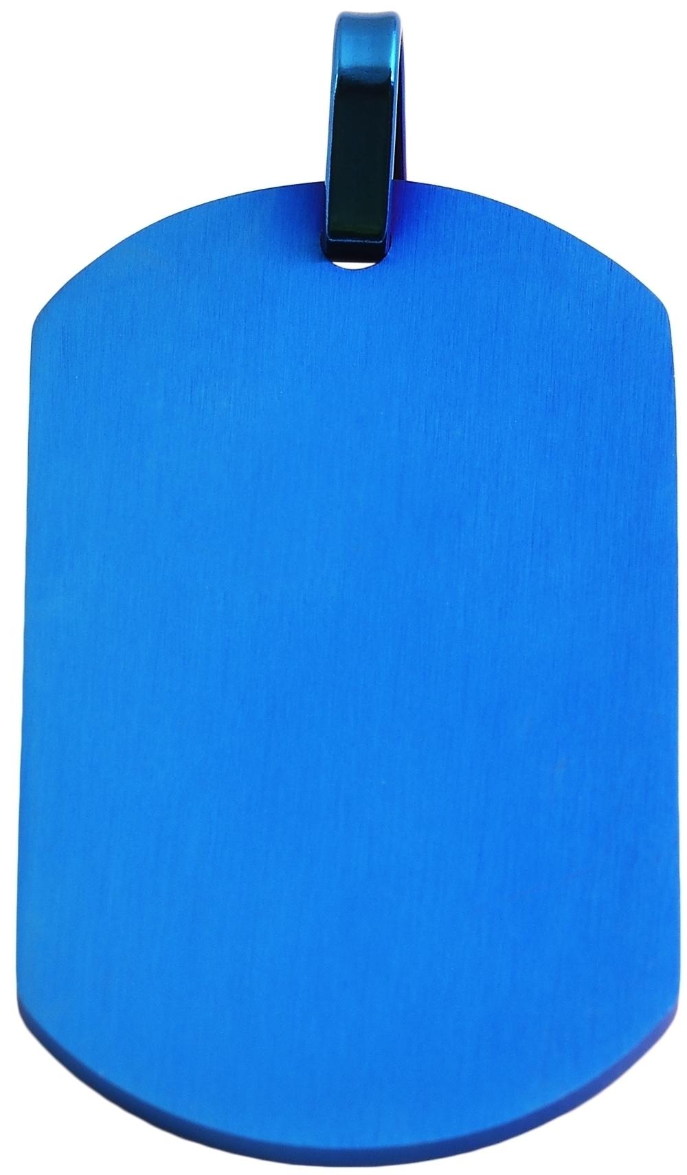 hanger gravure edelstaal blauw 29 x 49mm